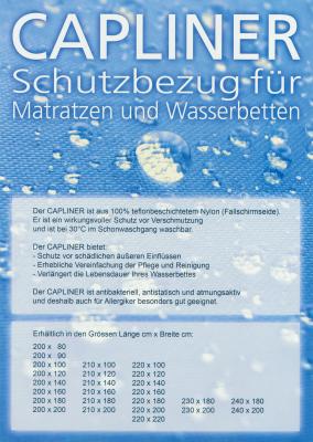 Capliner Schonbezug Staubschutz für Wasserbetten