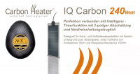 T.B.D. Carbon Heater - IQ Carbon 240Watt