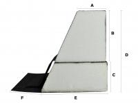 Ersatz - Schaumstoffrahmen - Wasserbettumrandung  für alle Softside - Wasserbetten