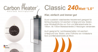 "T.B.D. Carbon Heater - ""Classic"" LS 240 Watt - analog"